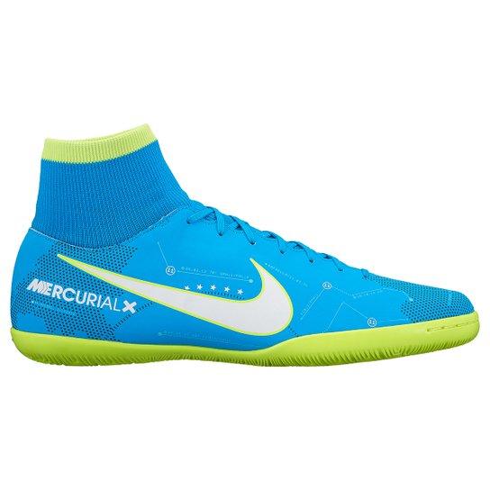 8d324ab77a2e6 Chuteira Futsal Nike Mercurial Victory 6 DF Neymar Jr IC - Azul+Branco