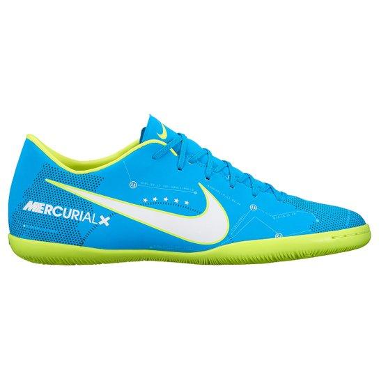 c4dd1b1c0c Chuteira Futsal Nike Mercurial Victory 6 Neymar Jr IC - Azul+Branco