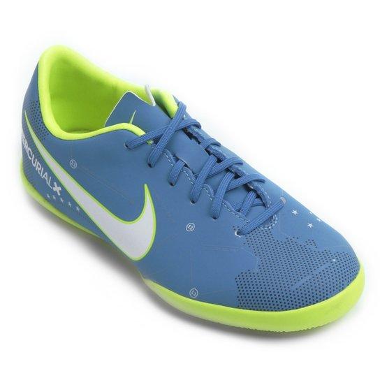 9a788c146a Chuteira Futsal Infantil Nike Mercurial Victory 6 Neymar Jr IC - Azul+Branco