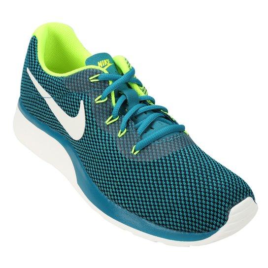 c1c2dd0c7c110 Tênis Nike Tanjun Racer Masculino - Azul Petróleo+Verde Limão