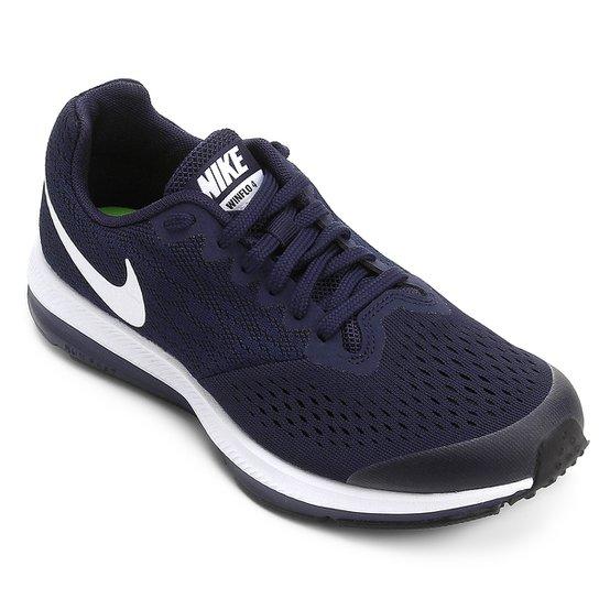 65aeafc53f Tênis Infantil Nike Zoom Winflo 4 Gs Feminino - Marinho+Branco