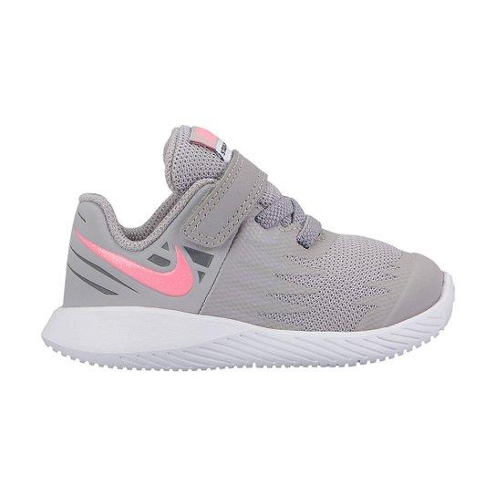 Tênis Infantil Nike Star Runner Feminino - Rosa e Cinza - Compre ... 44dda0ce7d54b