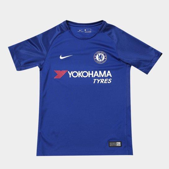 Camisa Chelsea Juvenil Home 17 18 s n° - Torcedor Nike - Compre ... 4c4fa3ebba3a2