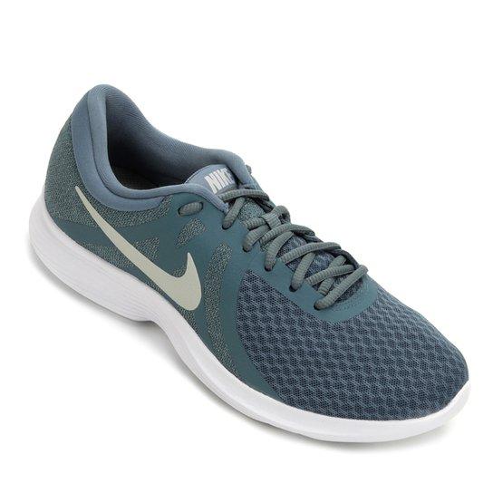 4a21aef380 Tênis Nike Revolution 4 Feminino - Azul e Branco