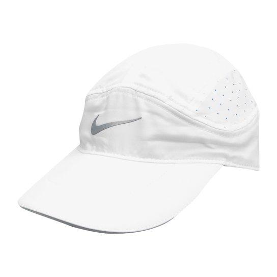Boné Nike Aba Curva Arobill TW Elite - Branco e Cinza - Compre Agora ... 8a87d2fb20aad