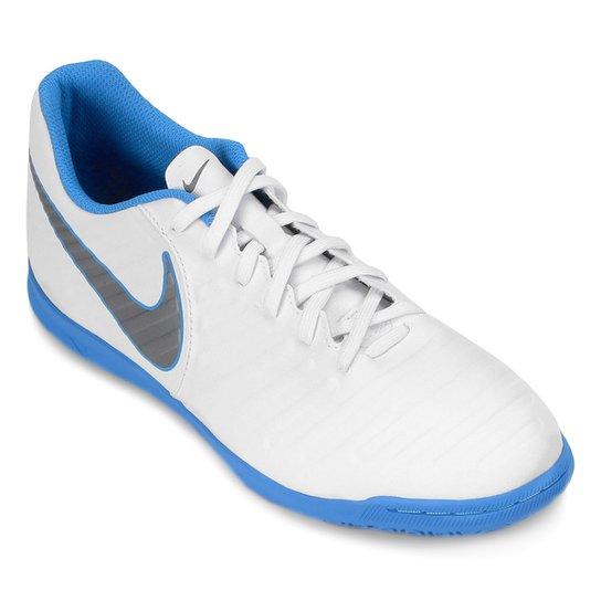 af7fc3c96d Chuteira Futsal Nike Tiempo Legend 7 Club IC - Branco e Azul