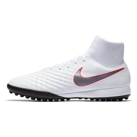 Chuteira Society Nike Magista Obra 2 Academy Dinamic Fit - Branco e ... dc959cae5902e