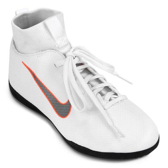 a5d83e534 Chuteira Futsal Infantil Nike Mercurial Superfly 6 Club - Branco e ...