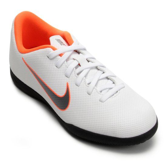 75474f0aafc08 Chuteira Futsal Infantil Nike Mercurial Vapor 12 Club - Branco+Cinza