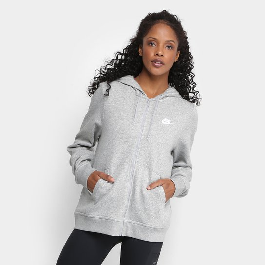 049641344f Jaqueta Nike Hoodie Fz Flc Feminina - Mescla - Compre Agora