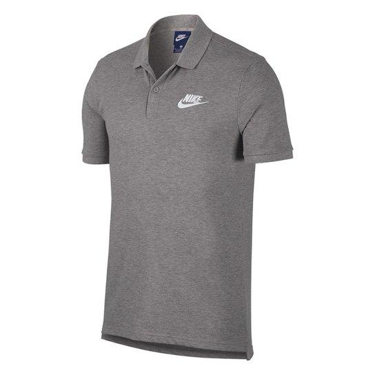 Camisa Polo Nike Matchup Piquet Masculina - Branco e Cinza - Compre ... e1a6a70486fe8