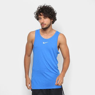 dd6b0d1bda Regata Nike Elite Top Masculina - Azul e Branco - Compre Agora ...