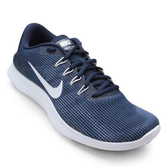5102356de55 Tênis Nike Flex 2018 Rn Masculino - Azul e Branco - Compre Agora ...