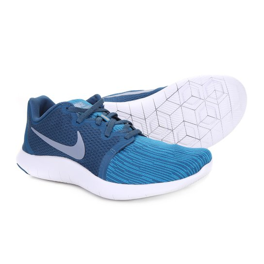 894817a0d94e8 Tênis Nike Flex Contact 2 Masculino - Azul e Branco | Netshoes