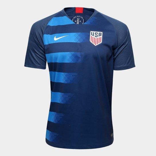 f0edb43ea1d07 Camisa Seleção Estados Unidos Away 2018 s n° Torcedor Nike Masculina - Azul+