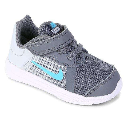 250210eb16a Tênis Infantil Nike Downshifter 8 TDV Masculino - Azul e Branco ...