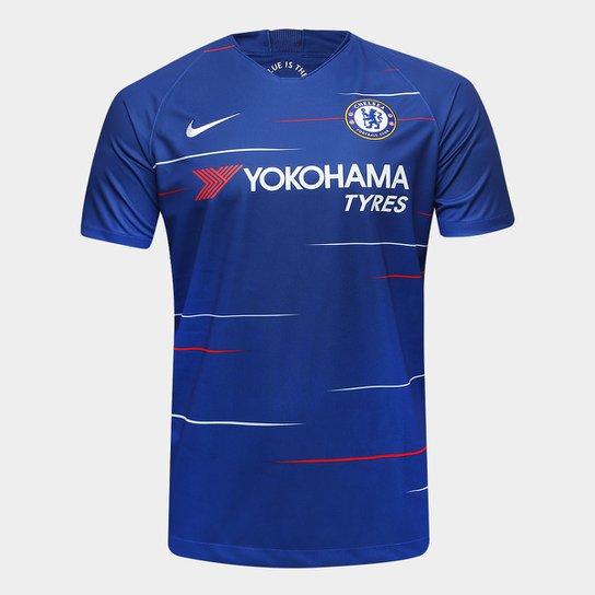 Camisa Chelsea Home 18 19 s n° Torcedor Nike Masculina - Azul ... 2d4687da0eb98