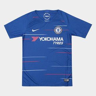 Camisa Chelsea Infantil Home 2018 s n° Torcedor Nike a9a399eb66a0d