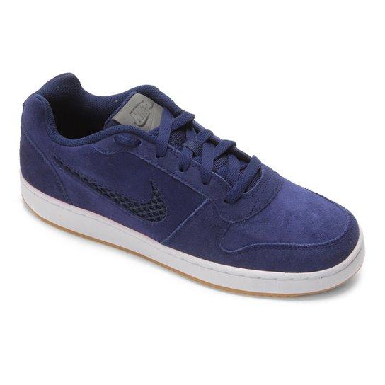 9ecfc8a4e3 Tênis Nike Ebernon Low Prem Masculino - Azul e Branco - Compre Agora ...