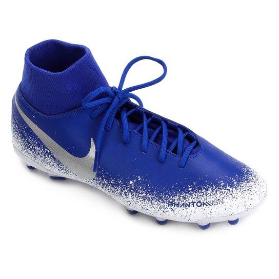892f5dd382 Chuteira Campo Nike Phantom Vision Club FG - Azul e Branco