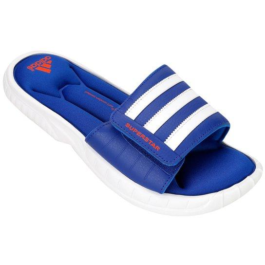 huge selection of 13691 0236c Chinelo Adidas Adi Star 3G Slide - Azul+Branco