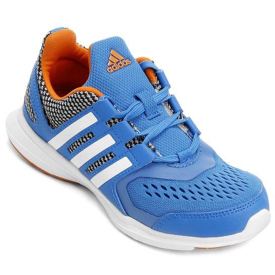 0470432ab37 Tênis Adidas Hyperfast 2 K Infantil - Azul Piscina+Branco