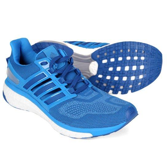 dc44ebc61bf Tênis Adidas Energy Boost 3 Masculino - Azul e Branco - Compre Agora ...
