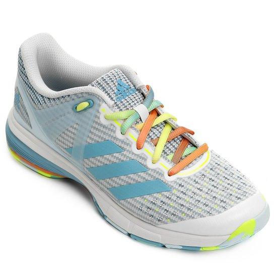 sale retailer 725bf 9bb19 Tênis Adidas Court Stabil - Azul+Branco