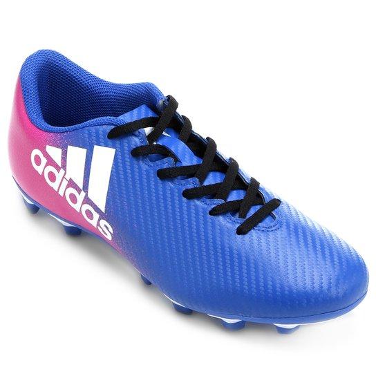 5bb24cca62 Chuteira Campo Adidas X 16 4 FXG - Azul e Pink