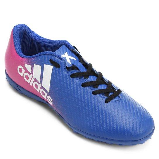 fa7d6ba2db Chuteira Society Adidas X 16 4 TF - Azul+Pink