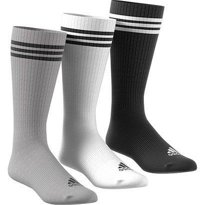 Meia Adidas Cano Alto Knee 3S Hc Pacote C/ 3 Pares Masculina