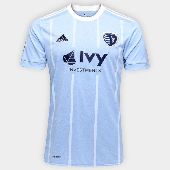 c5974425f1 Camisa Sporting Kansas City MLS Home 17 18 s nº Torcedor Adidas Masculina -  e70d7756ca8831 ...