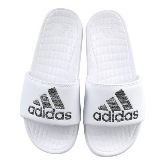 3c361b78ec5ab Chinelo Slide Adidas Voloomix Masculino - Branco e Cinza | Netshoes