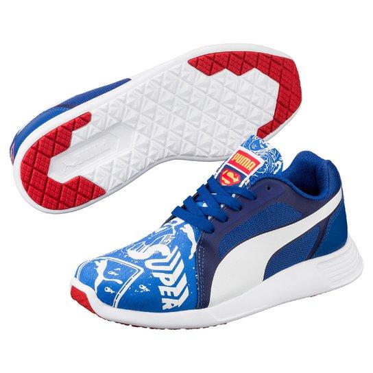 7096c10fd Tênis Puma St Trainer Evo Superman Infantil - Azul+Branco