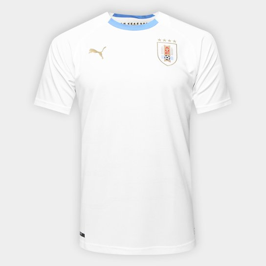 Camisa Seleção Uruguai Away s n° 2018 - Torcedor Puma Masculina - Branco 5a2823eef2309