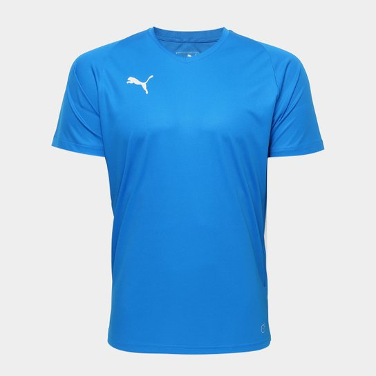 76f4724468 Camisa Puma Liga Jersey Core Masculina - Azul e Branco