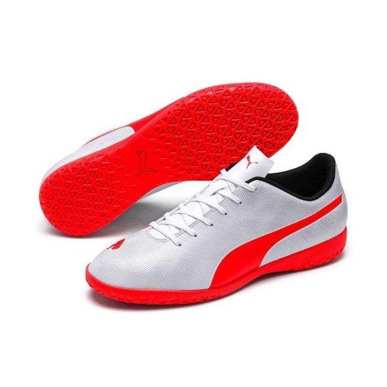 Chuteira Futsal Puma Rapido IT - Cinza e Laranja - Compre Agora ... 801192957a8