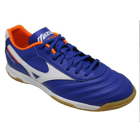 03694b3c5af5b Chuteira Mizuno Futsal Morelia Classic Masculina - Azul e Branco ...