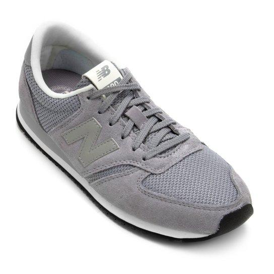 3f04e12eebe Tênis Couro New Balance 420 Feminino - Branco e Cinza - Compre Agora ...