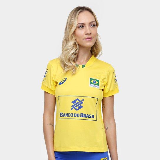 91439d50753 Camiseta Vôlei Asics Oficial Jogo CBV - Compre Agora