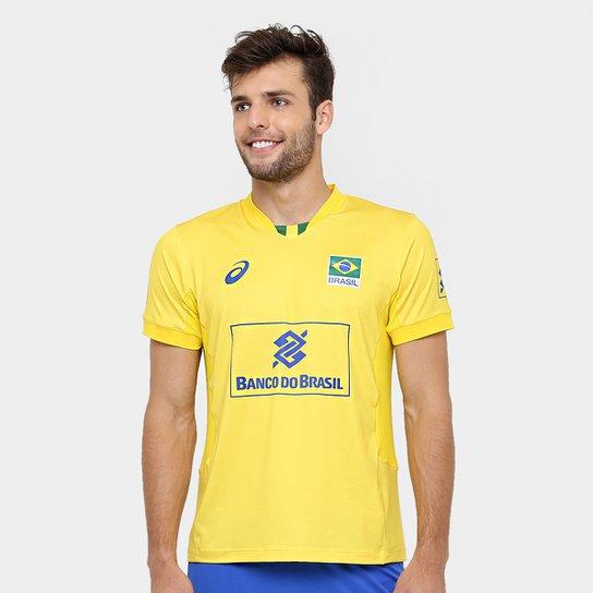 63b48aacd75 Camiseta Vôlei Asics Oficial Jogo CBV - Compre Agora