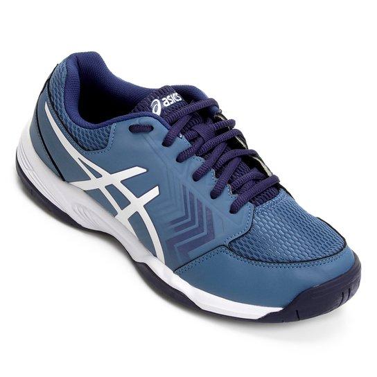 Tênis Asics Gel Dedicate 5A Masculino - Azul e Branco - Compre Agora ... 67c558788faab