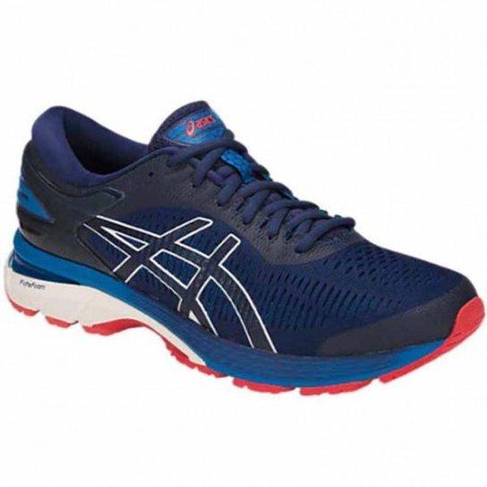 4ea0b3ddeb0 Tênis Asics Gel Kayano 25 Masculino - Azul e Branco - Compre Agora ...