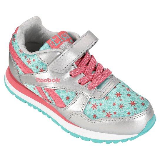 01aa455f3f Tênis Reebok Frozen Elsa Runner Infantil - Rosa+Branco
