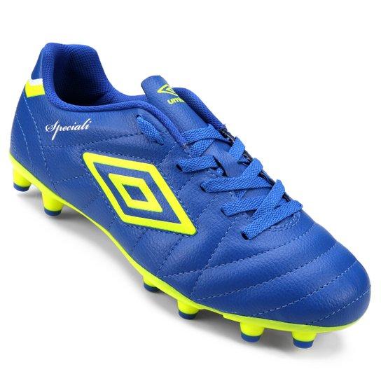 Chuteira Campo Umbro Speciali Club - Azul e amarelo - Compre Agora ... 7edd2baab0576