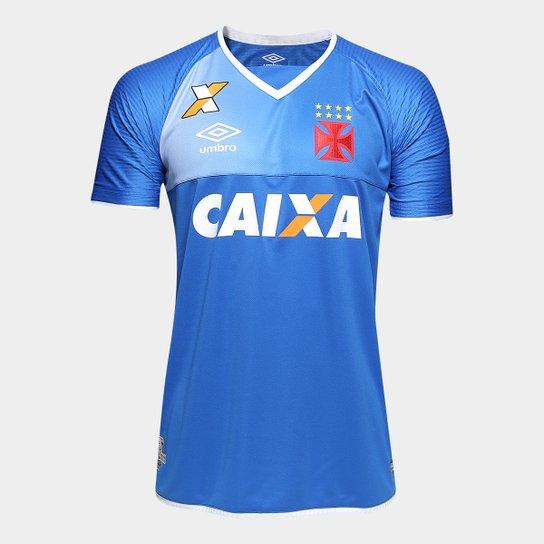 Camisa Vasco Goleiro 17 18 s nº Torcedor Umbro Masculina - Azul+Branco e1a1777002964