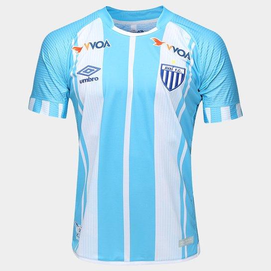Camisa Avaí I 17 18 s nº - Torcedor Umbro Masculina - Azul Claro e ... a1e1f3a1e3595