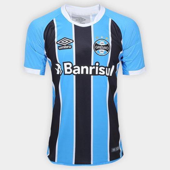 Camisa Grêmio I 17 18 s nº - Torcedor Umbro Masculina - Compre Agora ... 619914c13987f