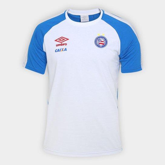 ad371059ce15e Camiseta Bahia Umbro Concentração 17 18 Masculina - Azul e Branco ...