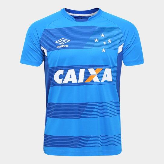 Camisa de Treino Cruzeiro 17 18 Umbro Masculina - Azul Turquesa+Azul 76c8c6b989d17